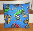 Monster Truck Trucks 4 X 4 Child's Room Throw Pillow Boys Cu