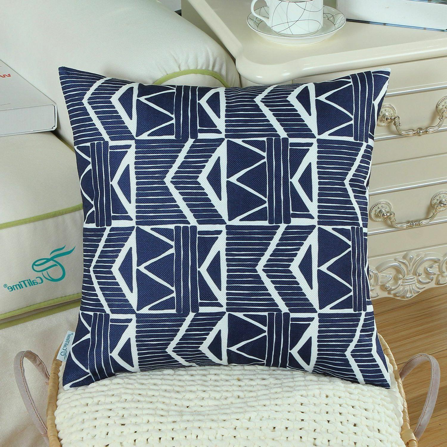 Navy Throw Pillow Pack of 2 NEW