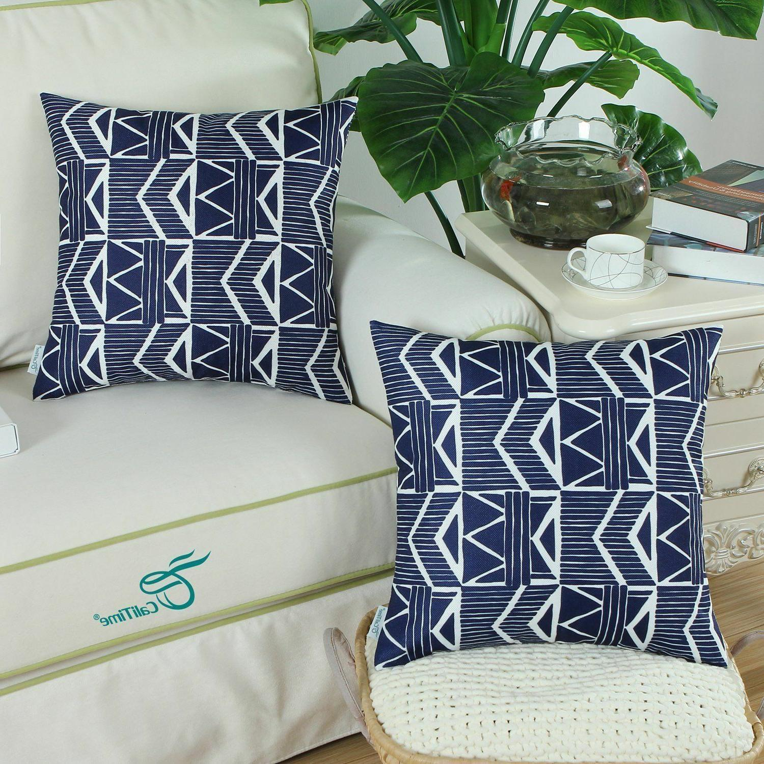Navy Throw Covers 18x18, Pack