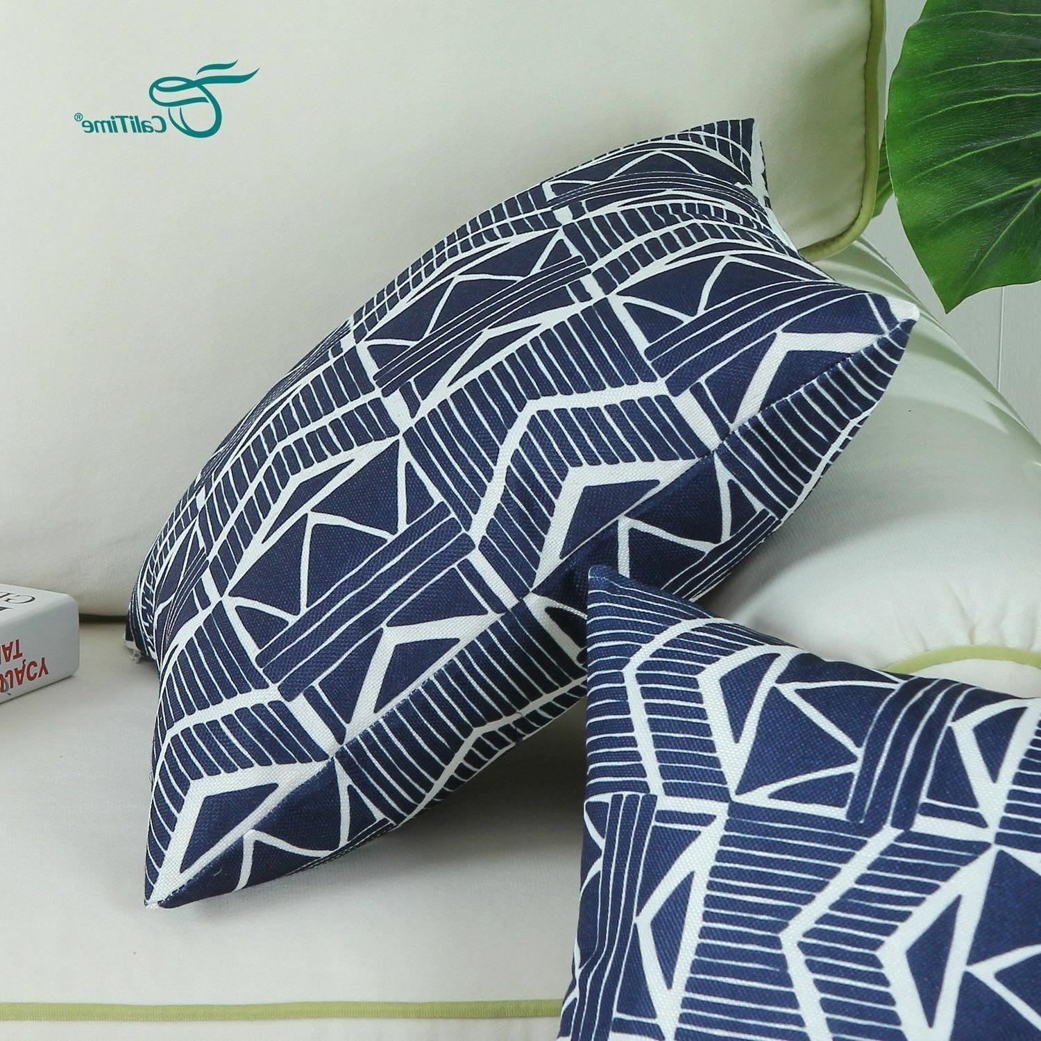 Navy Modern, Throw Covers Pack 2
