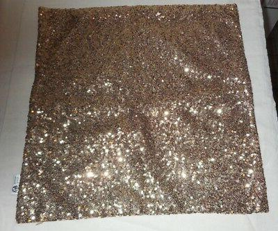 """New Kevin Textile Bling Set Of 2 Gold Sequin 17"""" X 17"""" Pillo"""