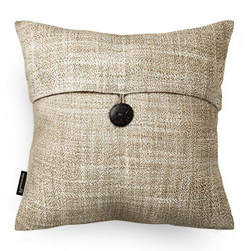 "Phantoscope Set Button Linen Decorative Throw Pillow Case Cover 18""X18"