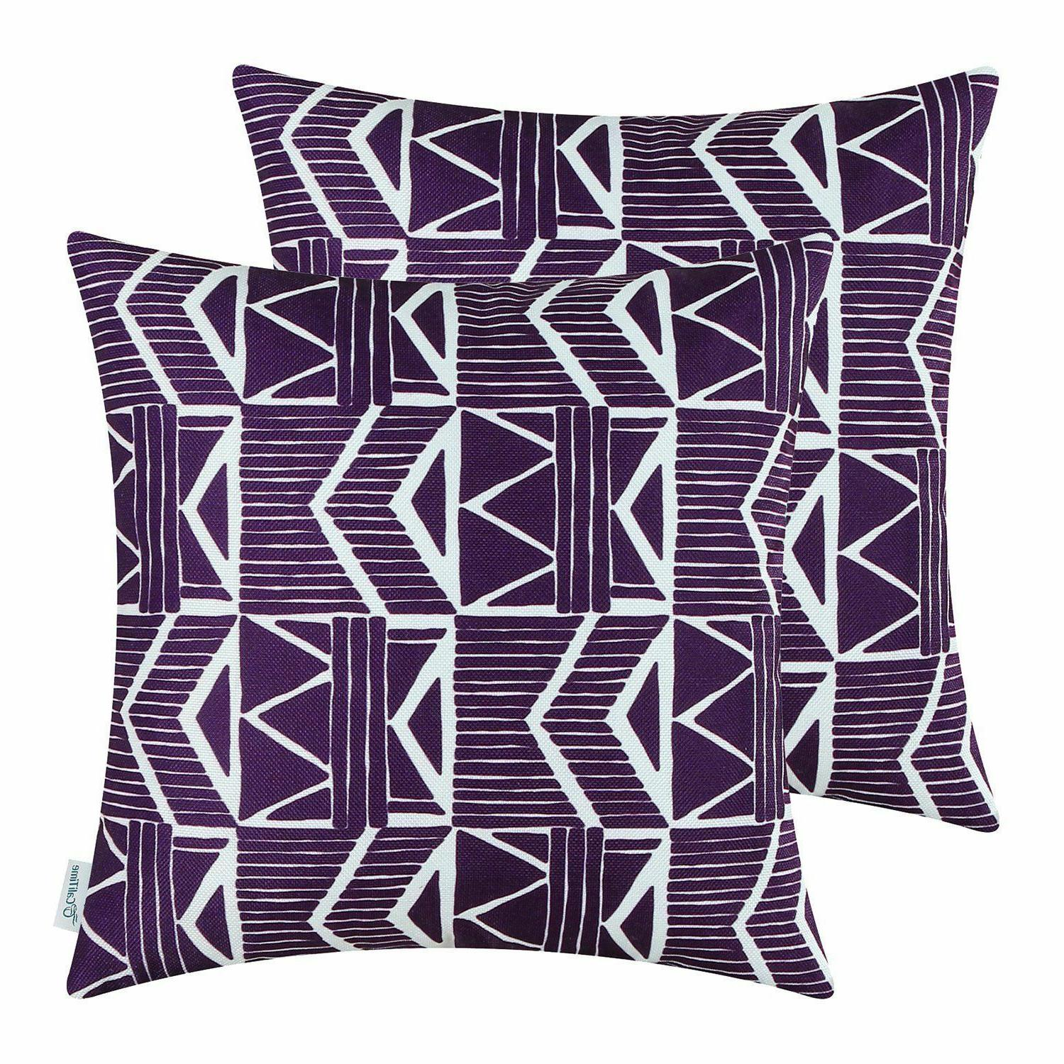 Purple Southwest Modern, CaliTime Throw Pillow Covers 18x18,