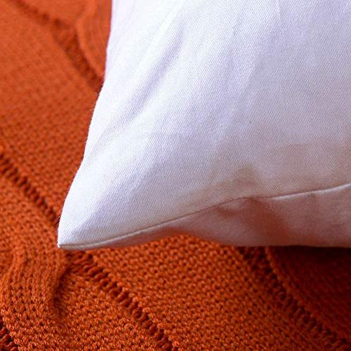 DOWNIGHT Set Cotton Throw Inserts, Down Decorative Pillow