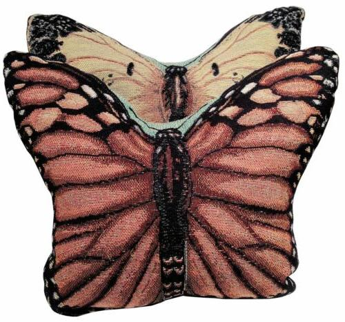 Set of 2 Graceful Flight Butterfly Shape Reversible Tapestry