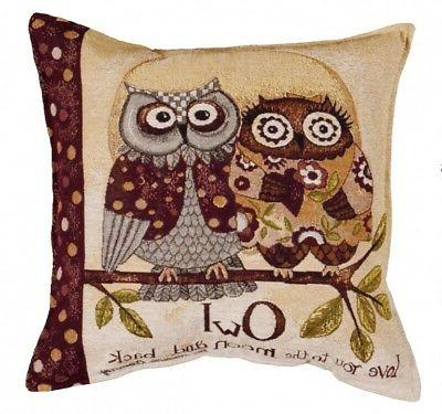 Simply Home Owl Love You Decorative Tapestry Throw Pillow