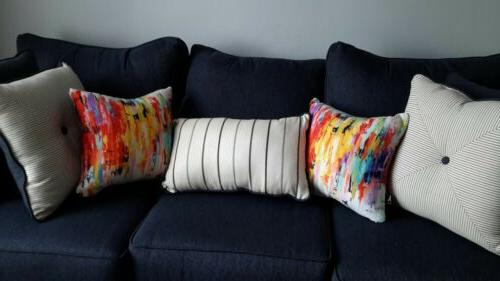 Throw Pillows Set of Two 16 X 16 8 D Multi-color