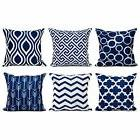 Top Finel 100% Durable Canvas Square Decorative Throw Pillow