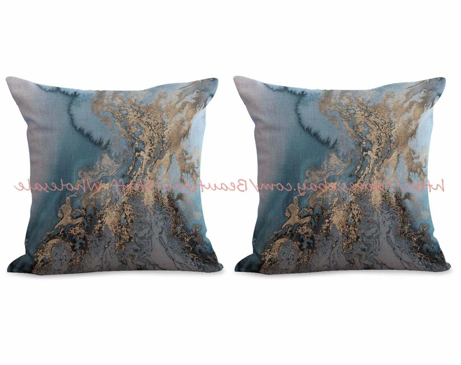 US SELLER- set of 2 marble cushion cover living room throw p