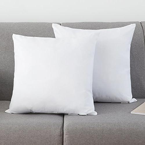 YSTHER Set of 2, Down and Feather Throw Pillow Insert, Decor
