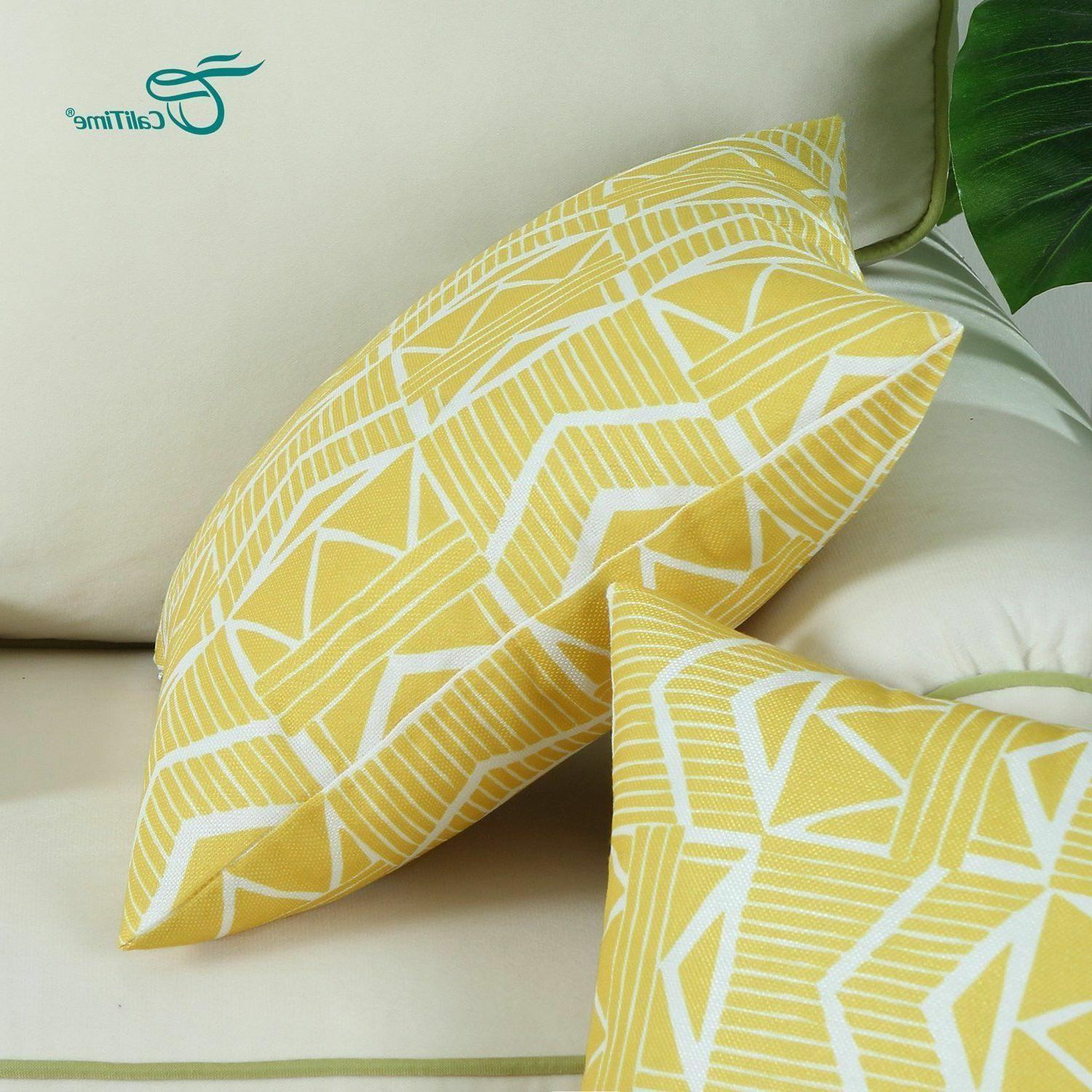 Yellow Throw Pillow Pack NEW