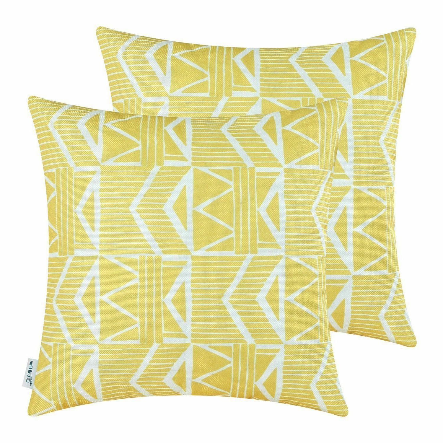 Yellow Southwest Modern, CaliTime Throw Pillow Covers 18x18,
