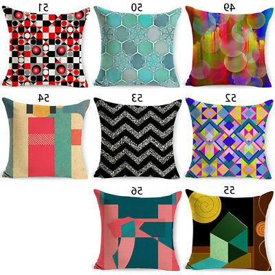 Abstract Geometric Cotton Linen Throw Pillow Case Cushion Cover