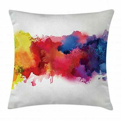 Ambesonne Abstract Throw Pillow Cushion Cover, Vibrant Stain
