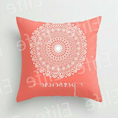 Artificial Coral throw pillows case sofa Bed Decor