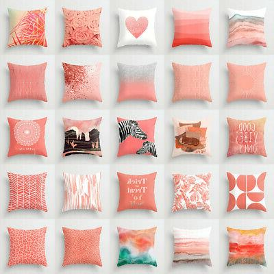 artifical coral cushion cover throw pillow case