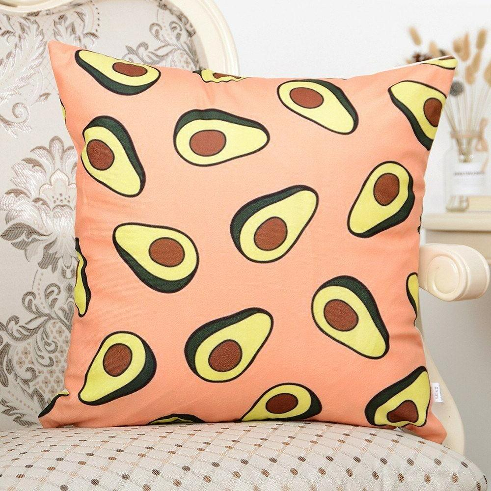 Avocado pattern Throw Case Flannelette Pillows Cover