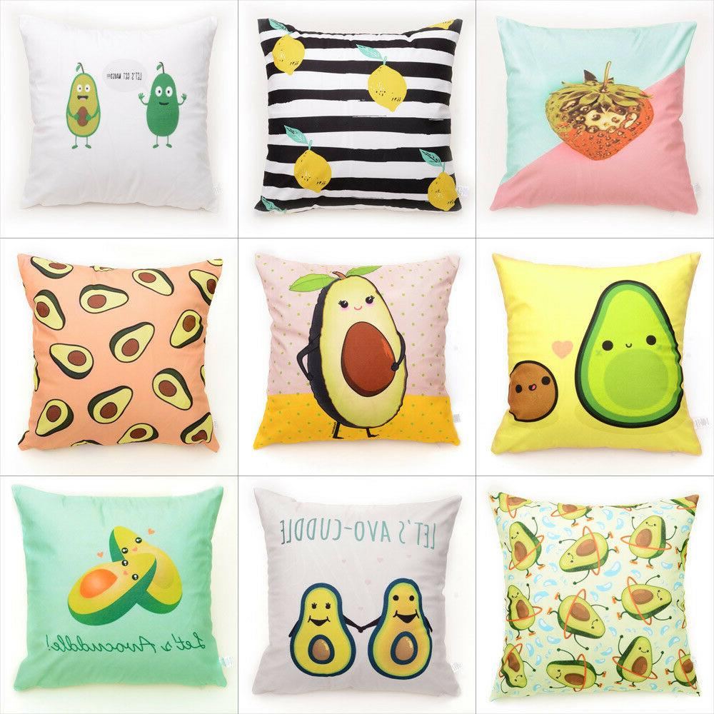 avocado pattern throw pillow case flannelette decorative