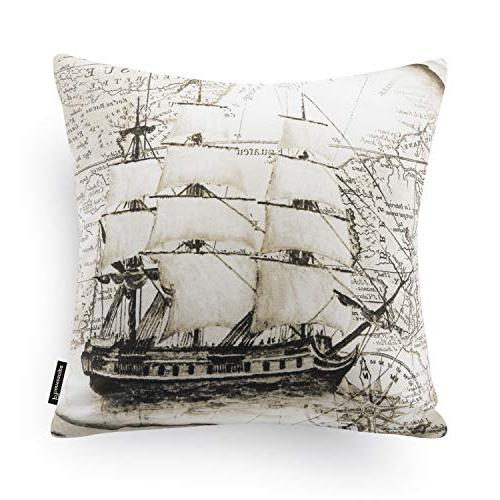 "Phantoscope Set Beige Decorative Series Map Pillow Csae Cushion 18"" x 18"" 45cm x 45cm"