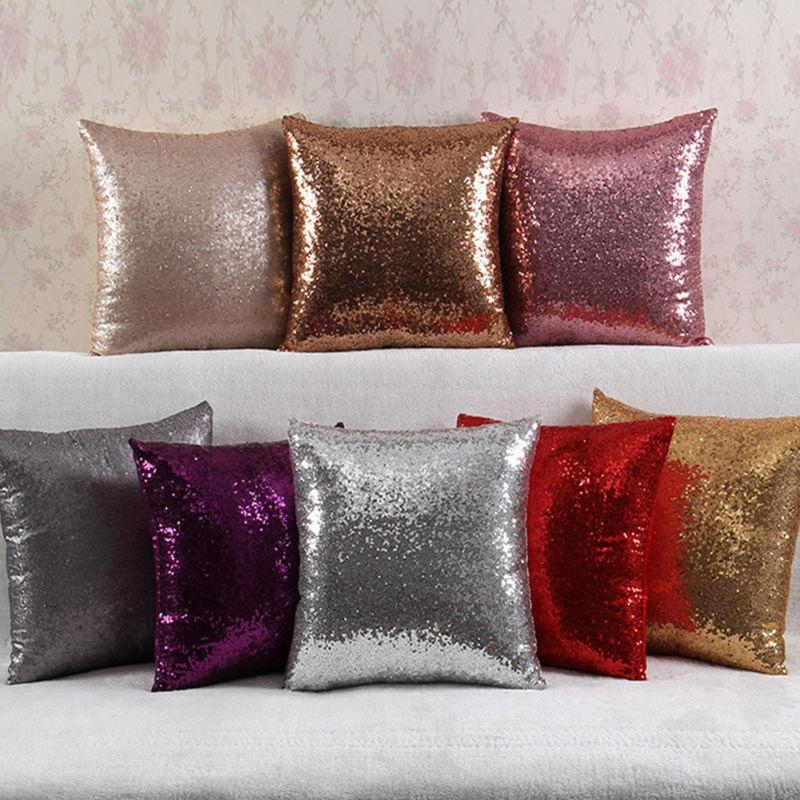 Bling Sequins Throw Cover Glitter Cover 16*16