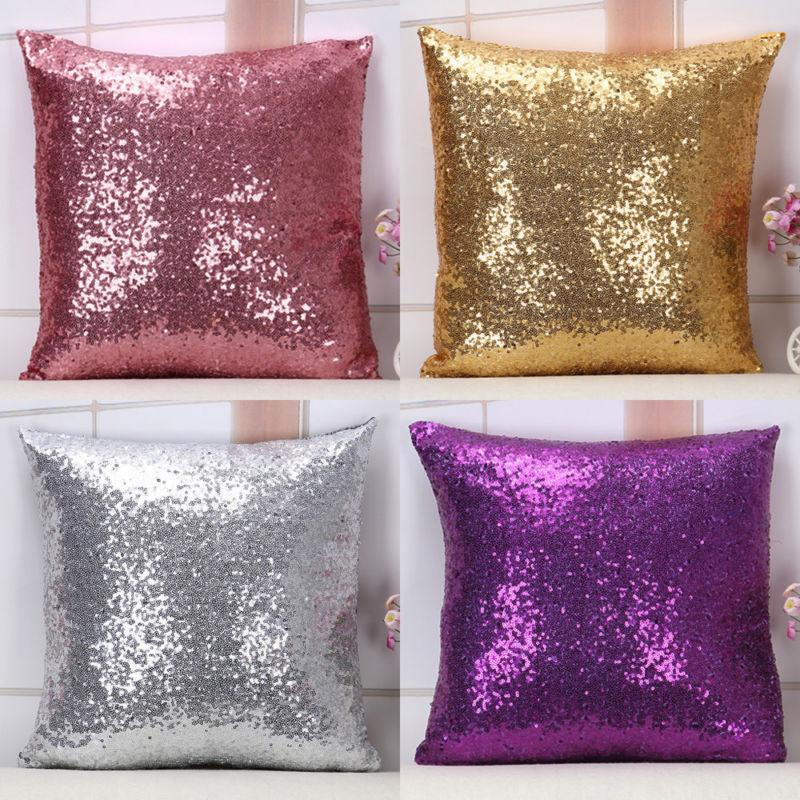 Bling Sequins Throw Cover Cover Sofa 16*16