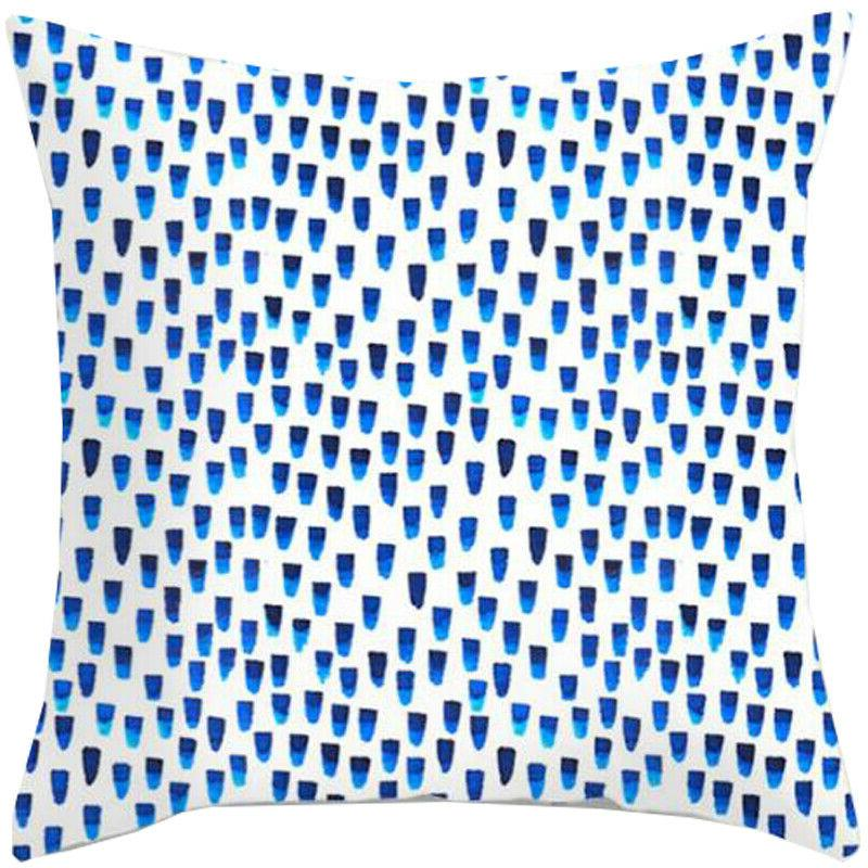 Blue Simple Pattern Cases Throw Decor
