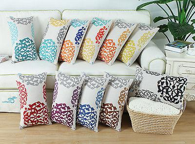 CaliTime Bolster Cushion Throw Pillows Case Cover Floral Geo
