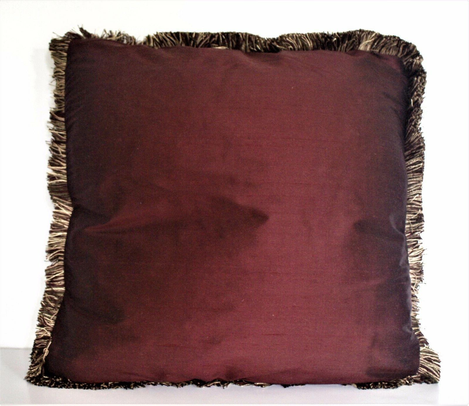 bronze square throw fringe couch