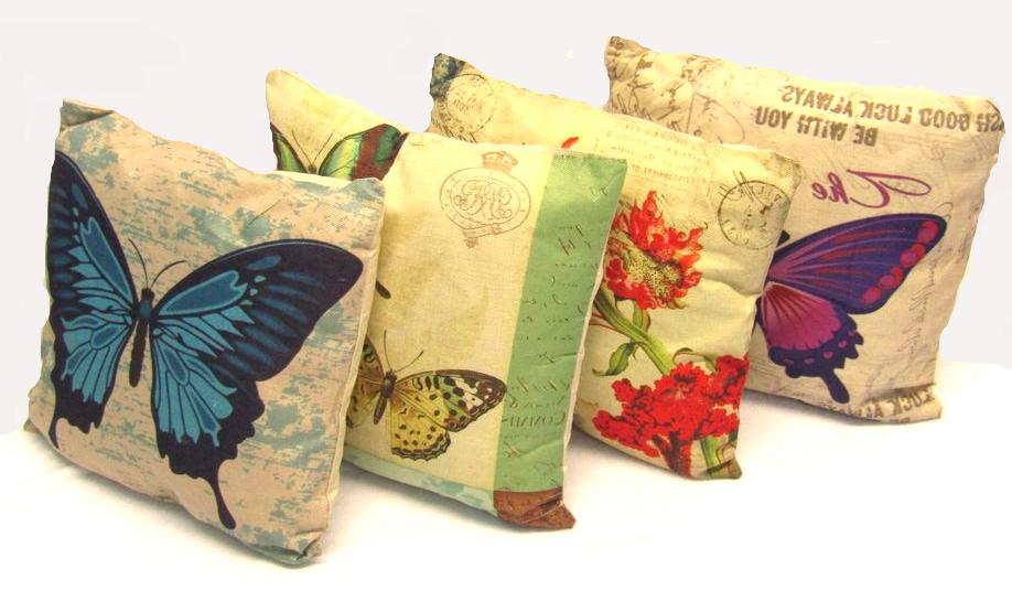 butterfly decorative throw pillow cushion sofa bed