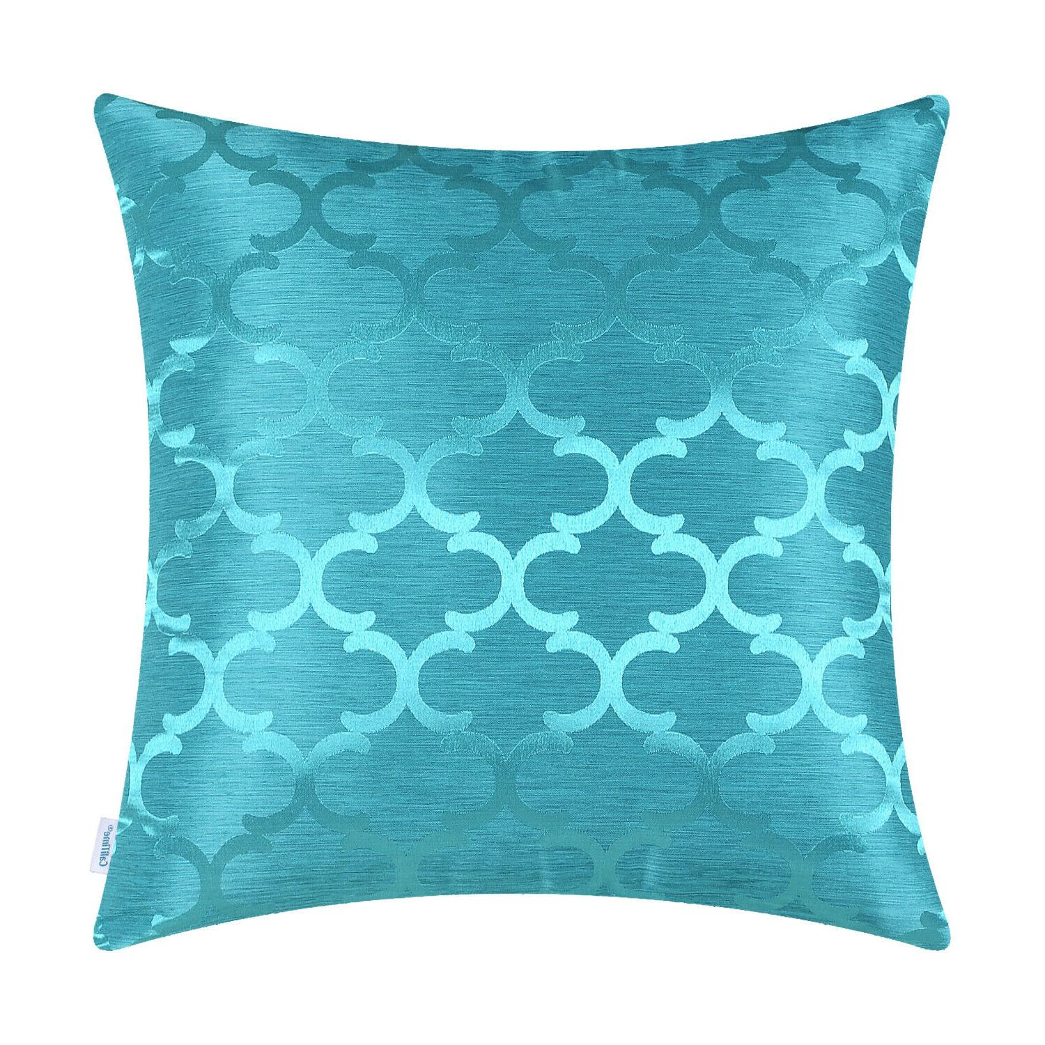 CaliTime Chains Geo Reversible Throw Pillows 16x16""