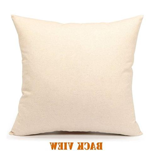 4TH Deer Linen Square Throw Pillow Cushion Cover Case for