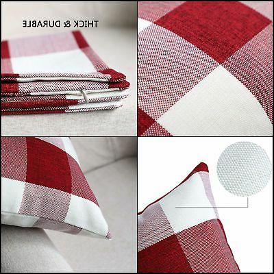4TH Emotion Pillow Red White Buffalo