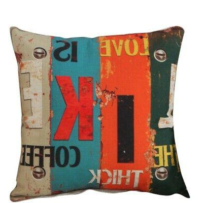 Cotton Pillow Case Cushion Cover Square