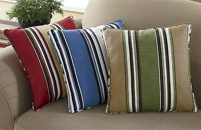 cotton striped decorative throw pillows cushions in