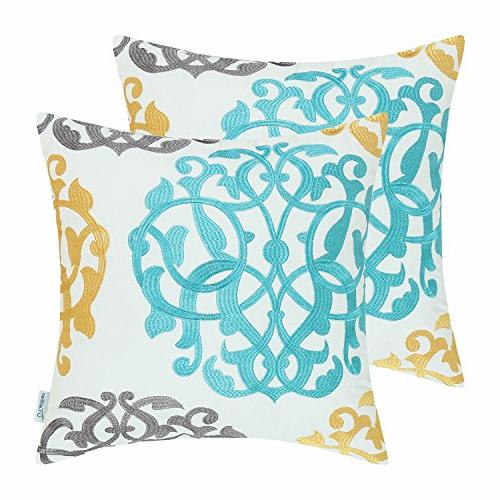 cotton throw pillow cases covers
