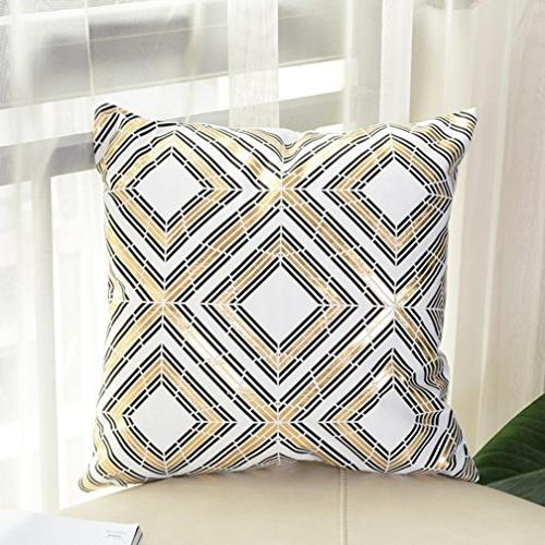 GBSELL Pillow Cover Gold Foil Printing Case Throw Cushion Cover Home Decor
