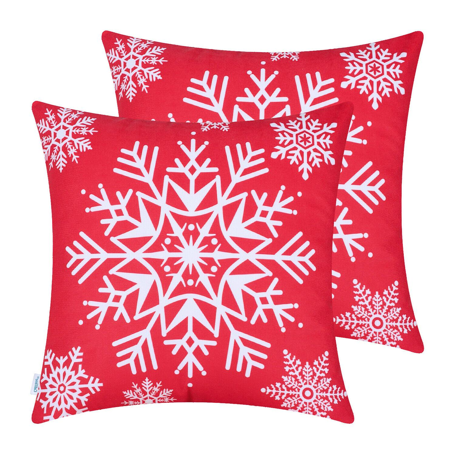 Pillows Covers Snowflakes