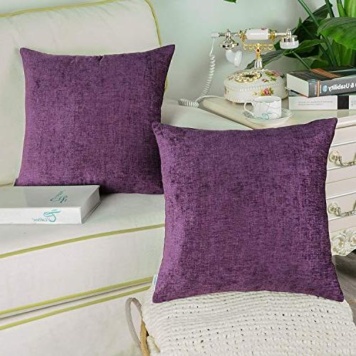 CaliTime 2 Cozy Throw Pillow Cases Sofa Soft X 18
