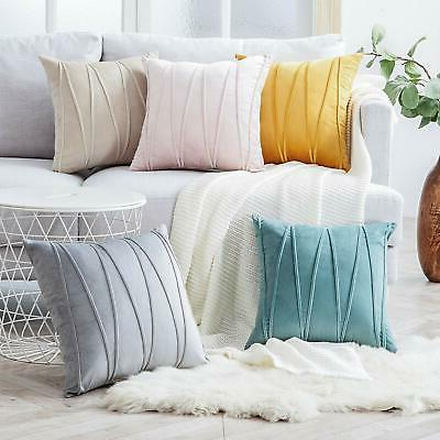 Top Finel Throw Pillow Covers 18 x 18 Solid