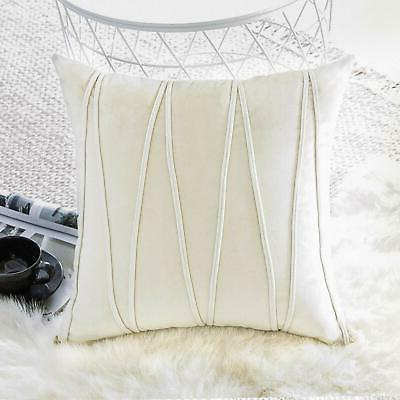 Top Finel Throw Pillow Covers x 18 Inch Soft Solid Velvet