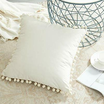 cream decorative throw pillow covers 26 x
