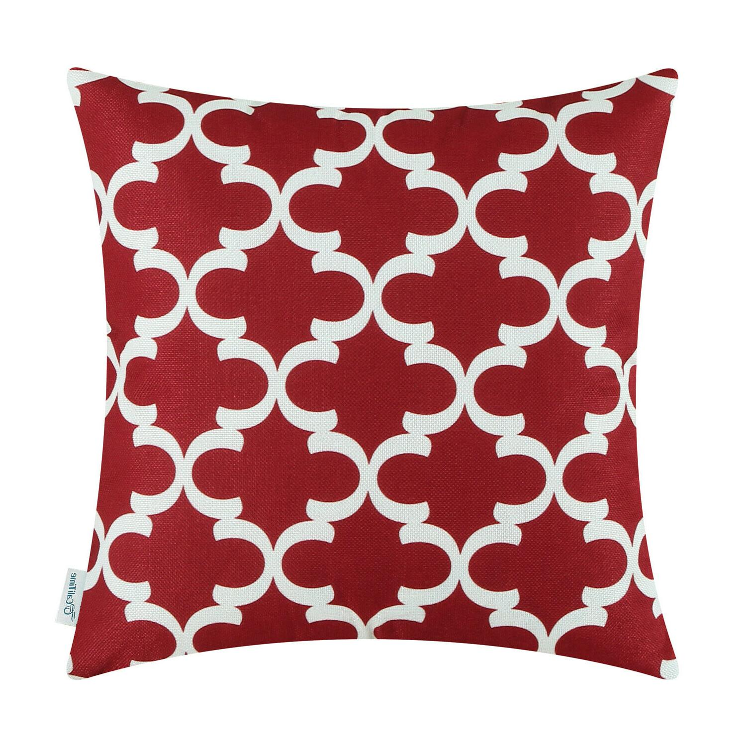 CaliTime Cushion Covers Throw Pillows Shell Geometric Home S