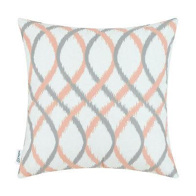 Calitime Covers Throw Pillow Cover Waves Strips