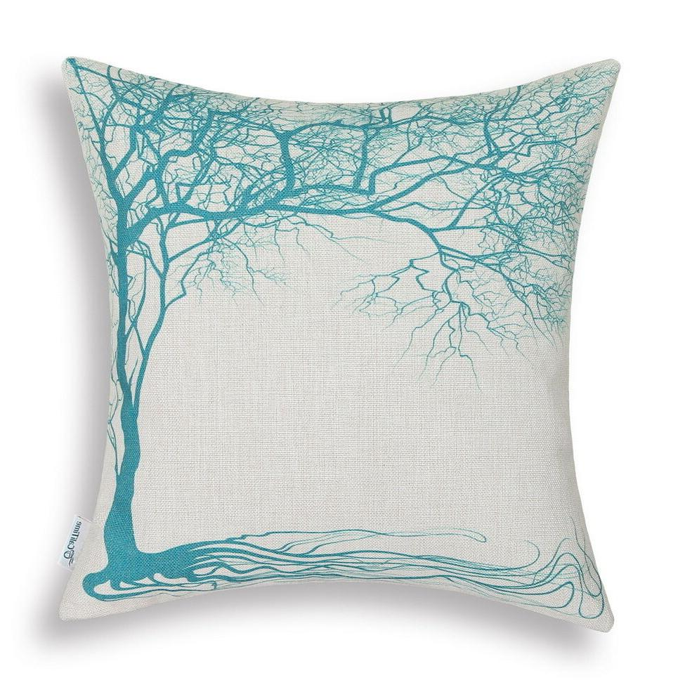 CaliTime Covers Pillows Cases Big Tree