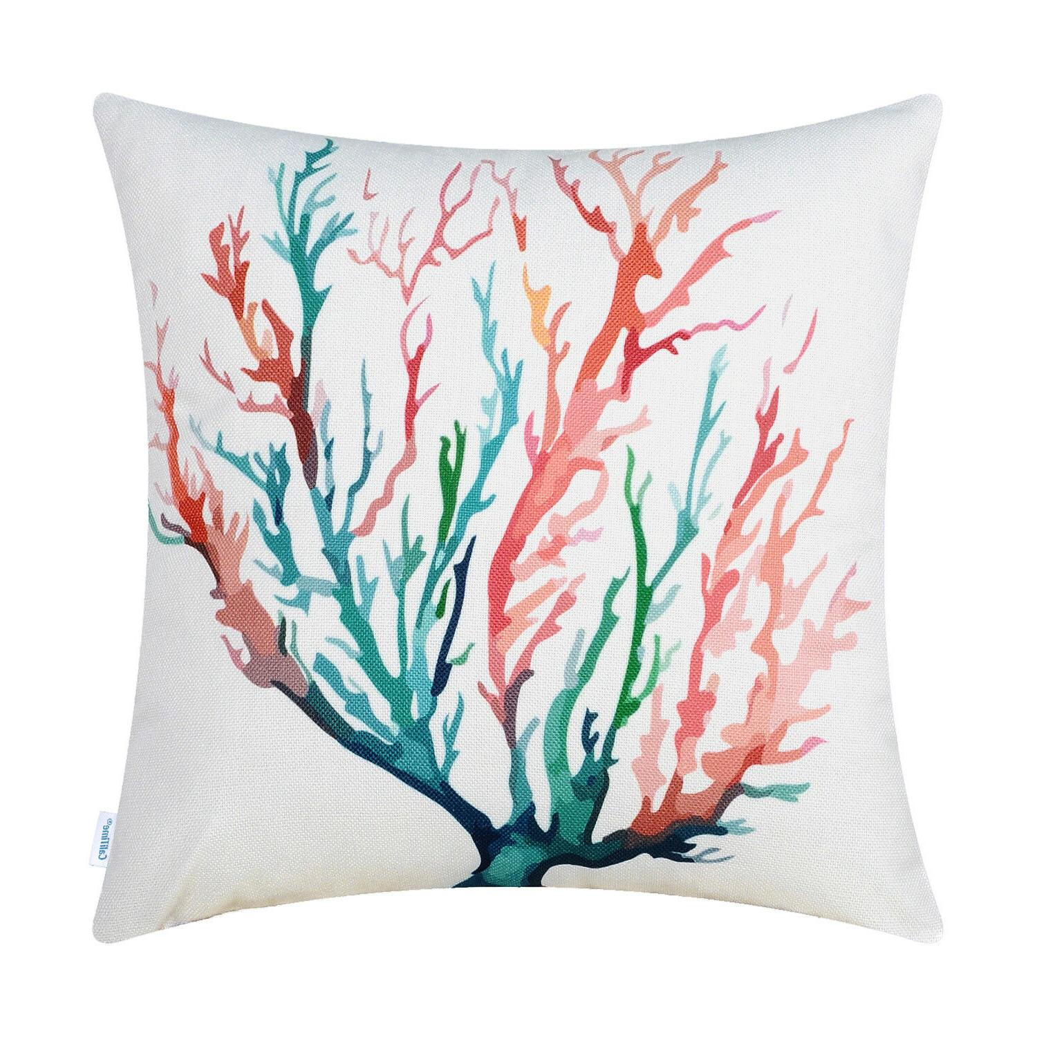 CaliTime Throw Pillows Cases Aquarelle Painting 18X18""