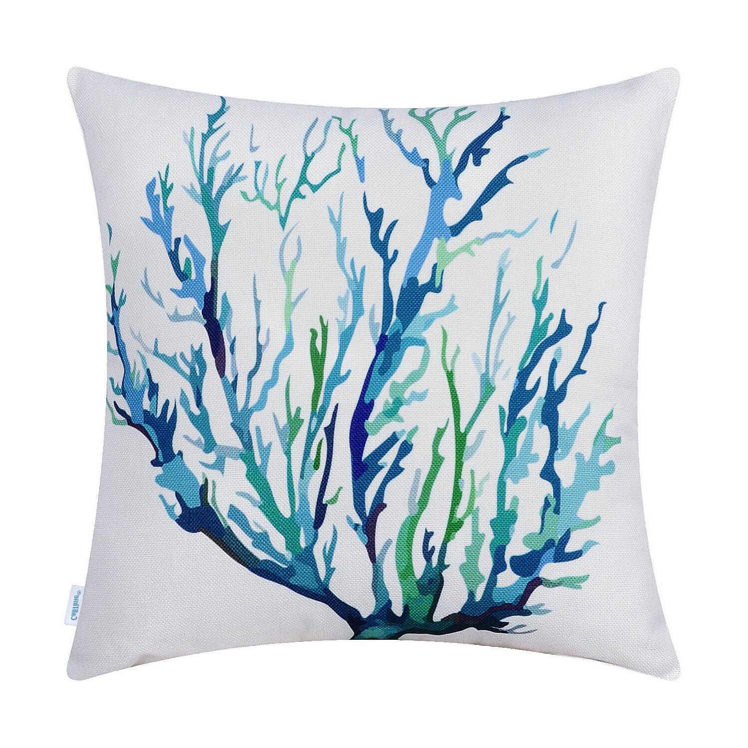 CaliTime Covers Pillows Aquarelle Painting
