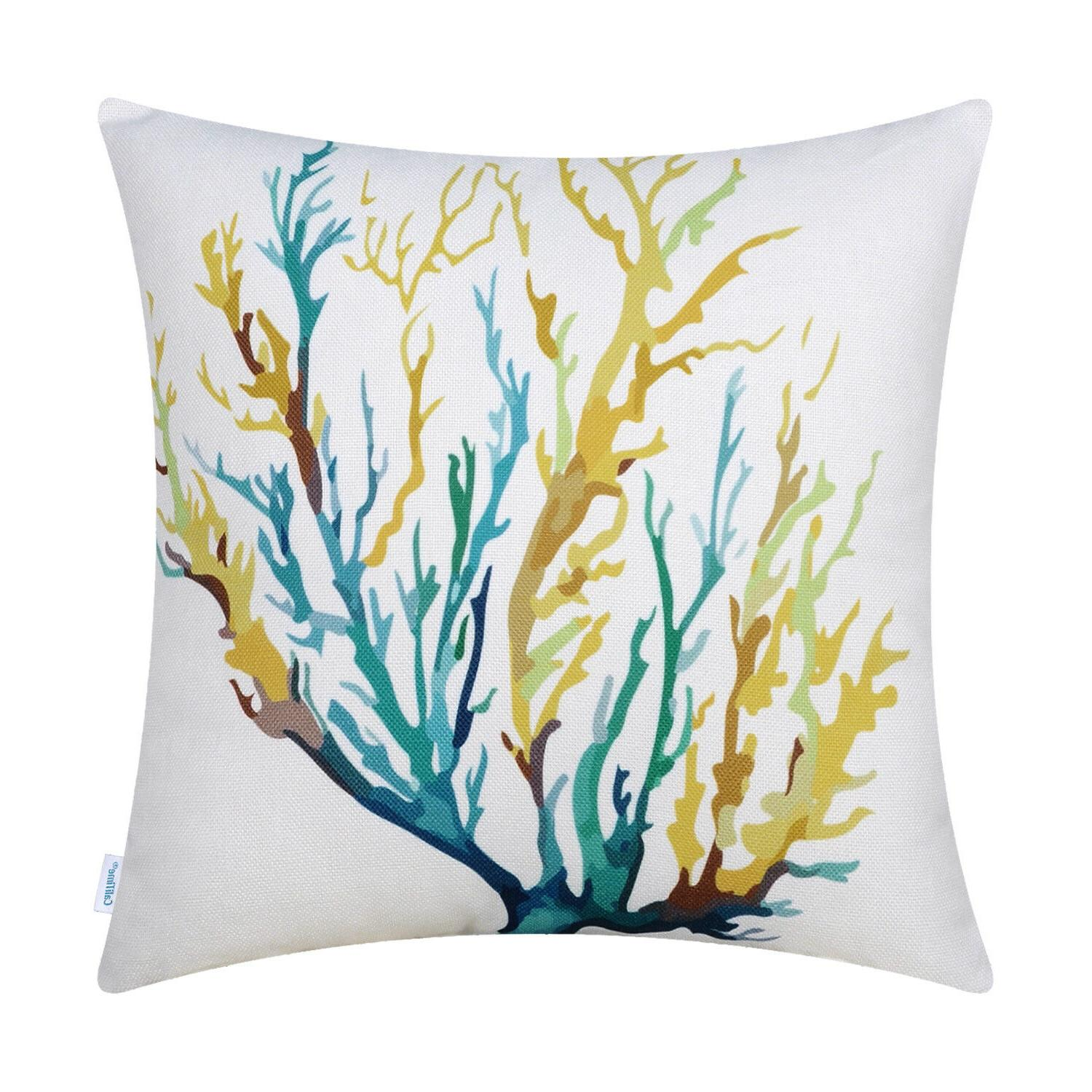 CaliTime Covers Pillows Cases Tree Aquarelle Painting