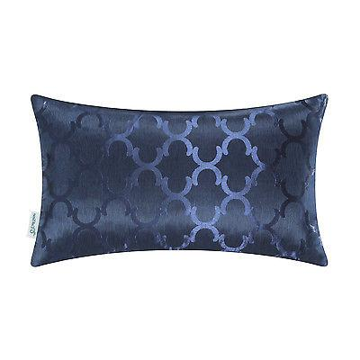 "CaliTime Throw Pillows Shell Geo Reversible 12""X20"""