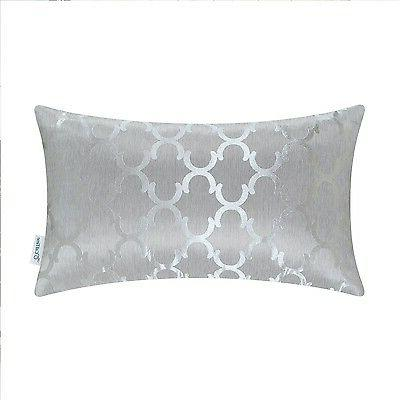 """12x20"""" Chains Accent Geo Reversible Throw Cushion Covers Pillows"""