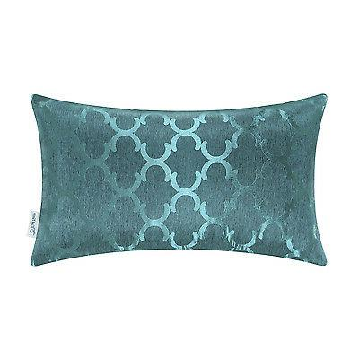 """12x20"""" CaliTime Chains Accent Geo Throw Covers Shell"""